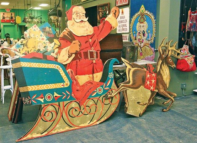 We Had This Very Same Santa, Sleigh, And Reindeer In Our