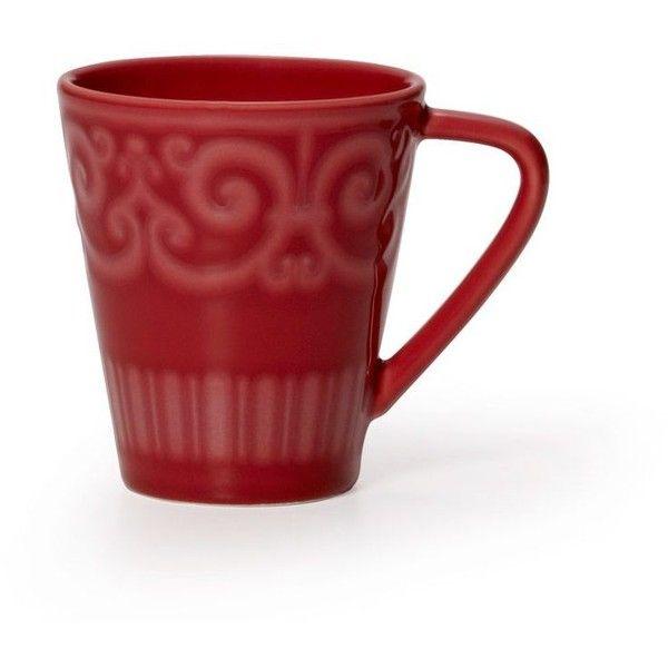 Sutton Teal Mug ($4.99) ❤ liked on Polyvore featuring home, kitchen & dining, drinkware, teal mugs, earthenware mugs, dishwasher safe mugs and tea mug