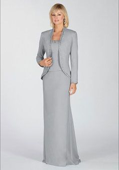 Elastic Silk-like Satin Straps Beaded Wrap Mother of the Bride Dress picture 1