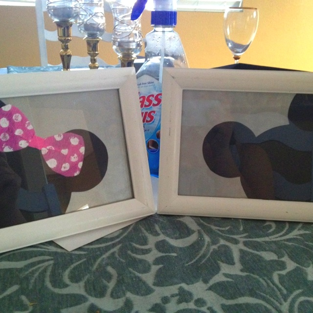 Minnie and Micky silhouette
