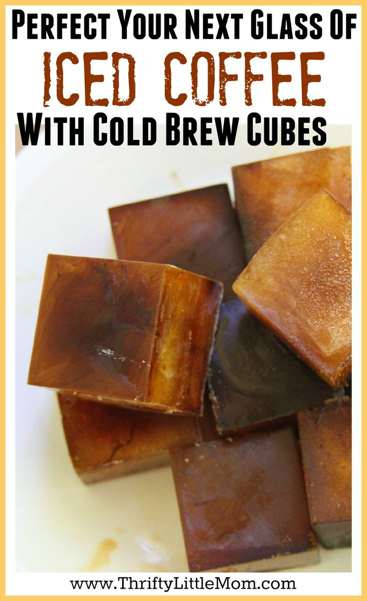 Cold Brew Iced Coffee Cubes.  Tired of making a strong glass of ice coffee only to have the ice melt and water it down? Drink your next glass of iced coffee and keep it strong with this Cold Brew Coffee Ice Cube recipe tutorial.