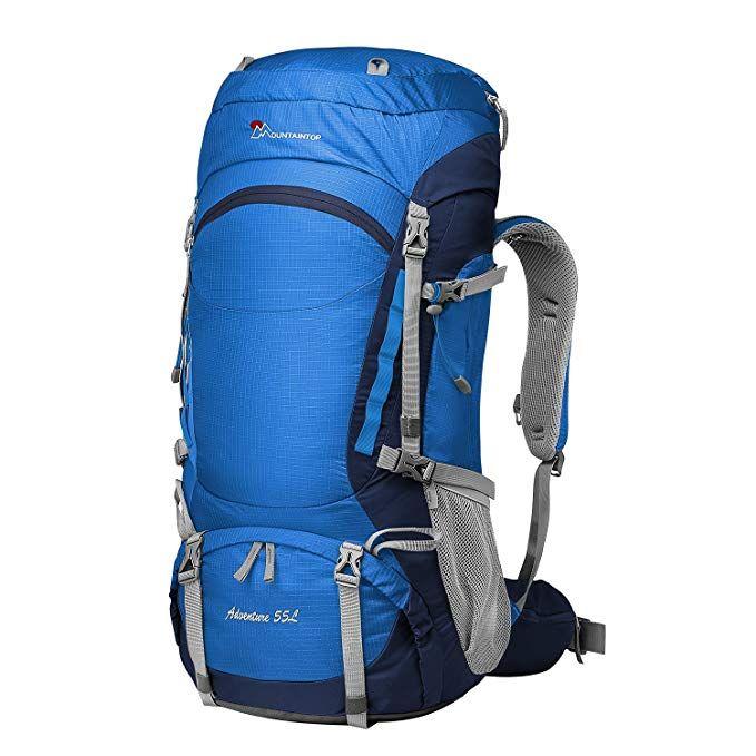 MOUNTAINTOP 55L Rucksack Trekking//Hiking//Camping//Travel Waterproof Backpacks for Men and Women
