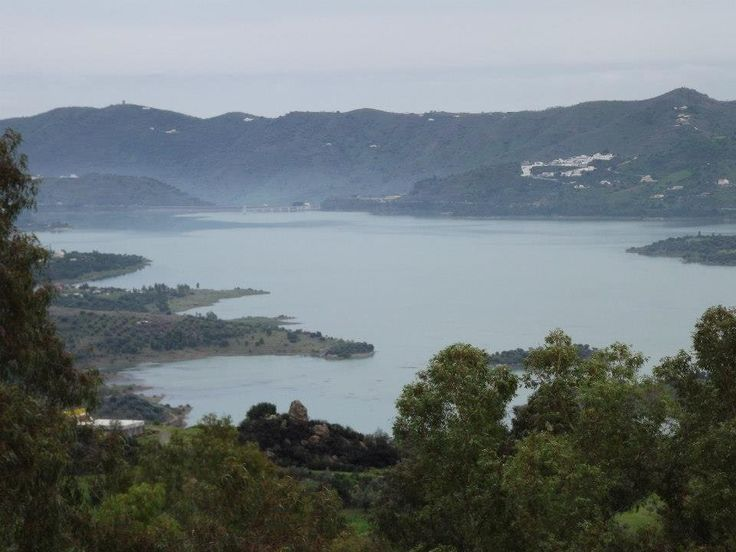 Lake Vinuela, Andalusia. On a misty morning.