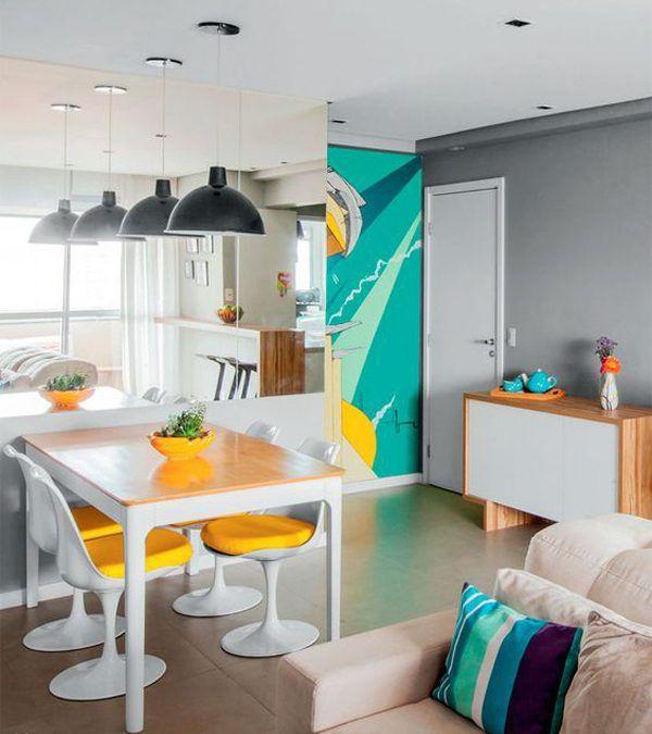 30 Salas de Jantar Pequenas Fantásticas para você se inspirar e ser mais feliz!