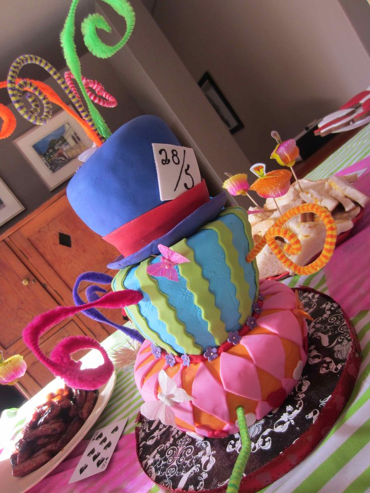 Mad Hatter Party For Faith S 15th Birthday Cakes Mad