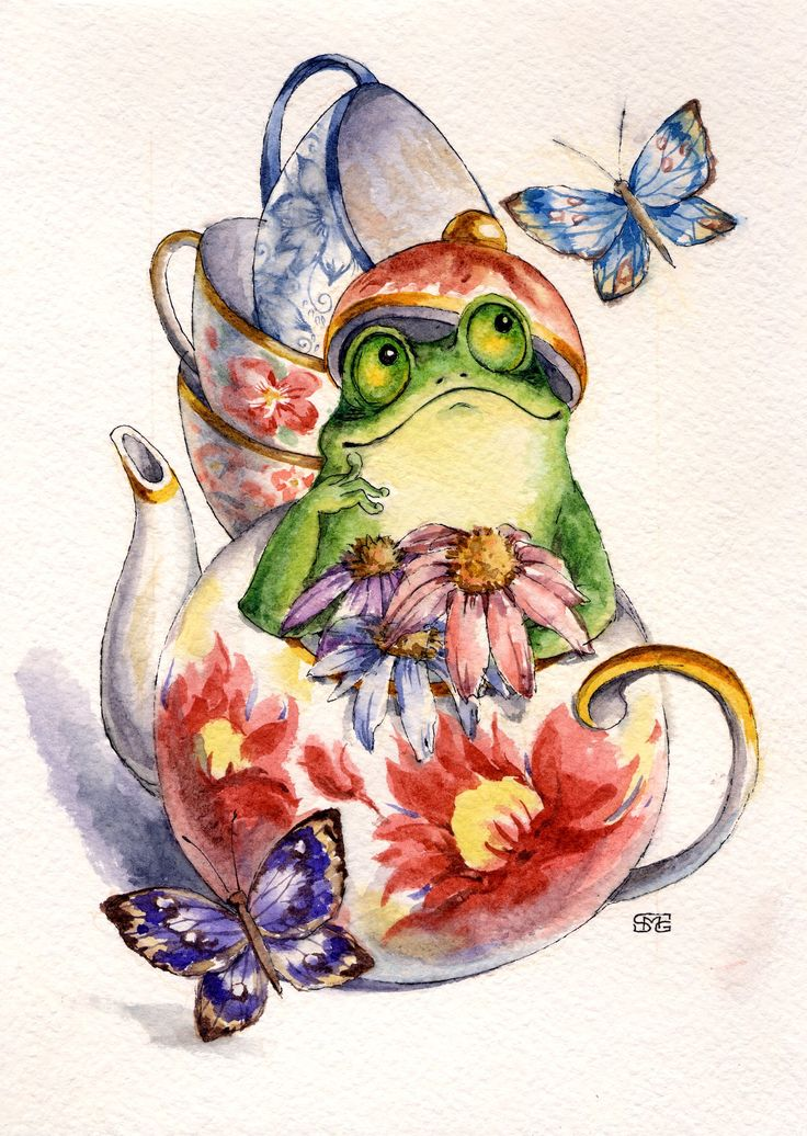 Любовь к чаю.