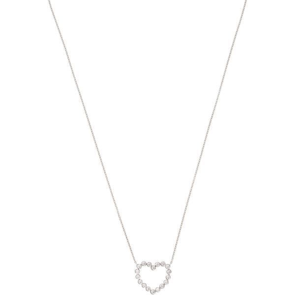 Tiffany & Co. Vintage Tiffany & Co. Diamond & Platinum Heart Pendant... found on Polyvore featuring jewelry, necklaces, white, round diamond necklace, vintage diamond pendant, long necklace, diamond necklace pendant and pendants & necklaces