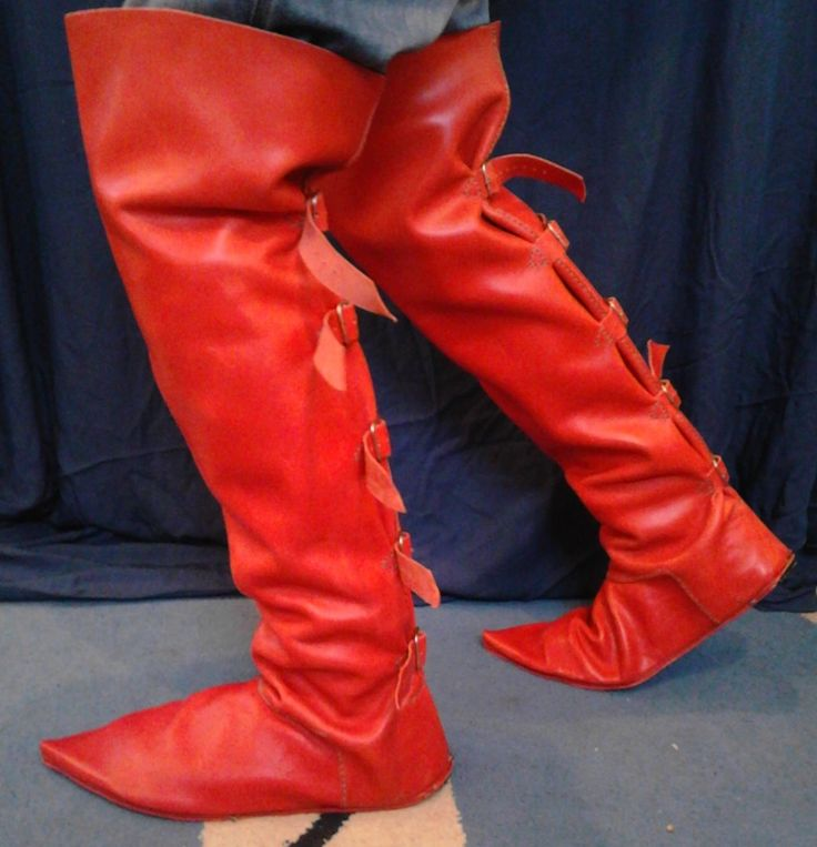 Medieval tall boots