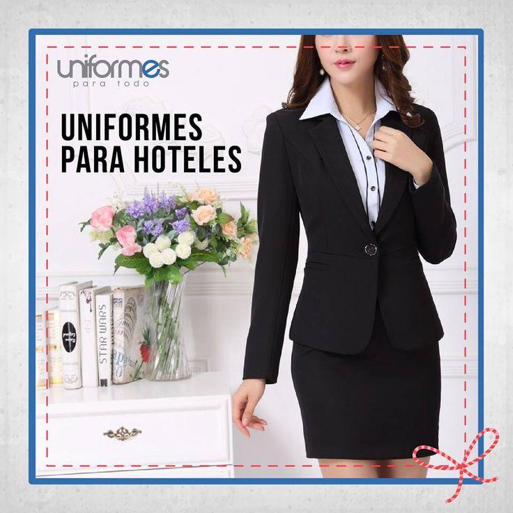 Tener a tu personal uniformado habla muy bien de ellos y de tu empresa. ¡Destácate en tu medio! #UniformesParaTodo #Hoteles #Marca #Personalizar www.uniformesparatodo.com