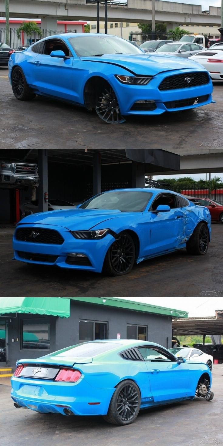 Nicely Equipped 2017 Ford Mustang V6 Fastback Repairable Ford Mustang V6 2017 Ford Mustang Ford Mustang