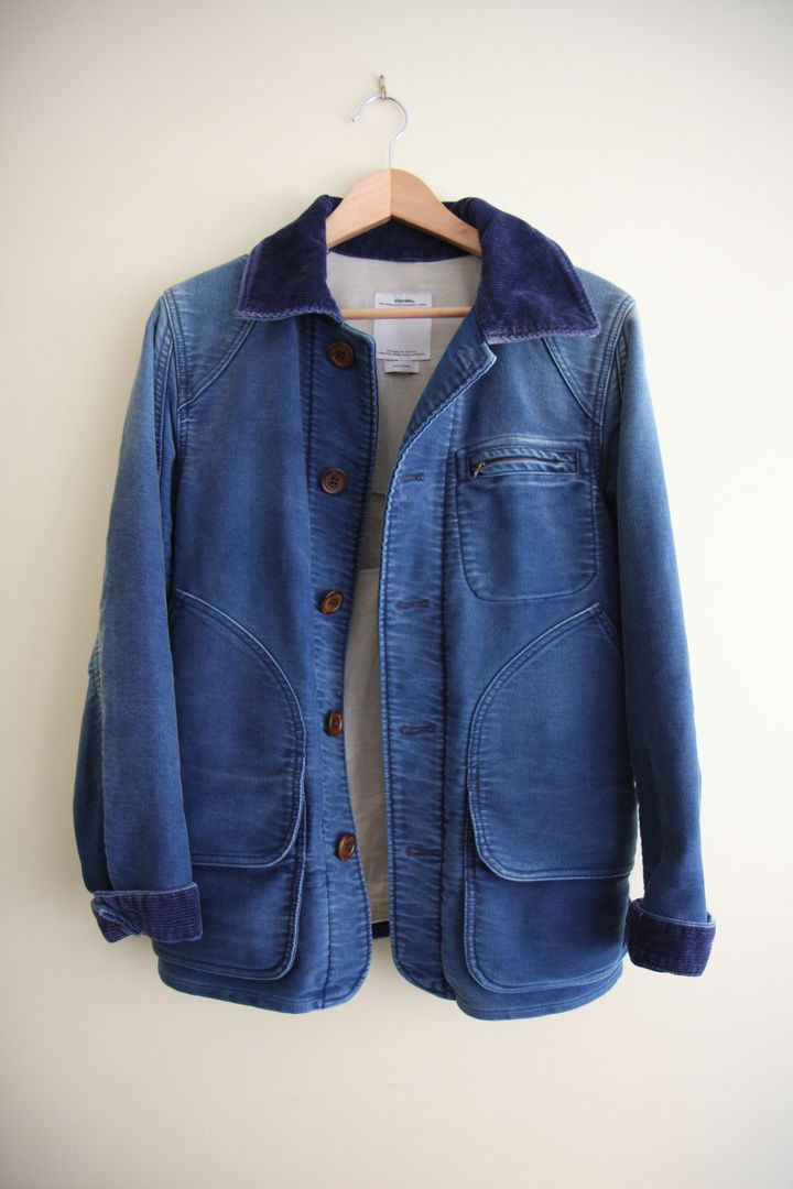 VISVIM MINIE HUNTING JACKET #menswear #fashion #indigo