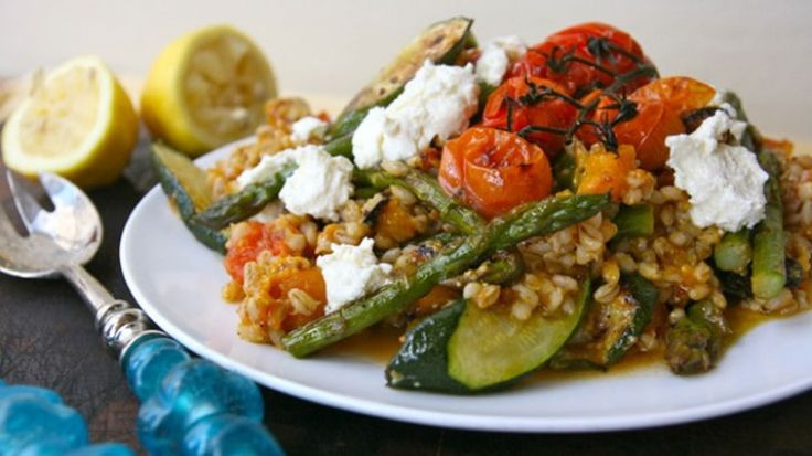 Roast veg and barley salad