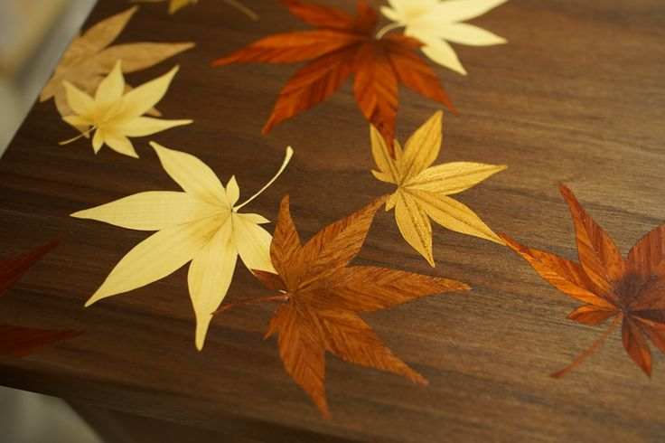 Japanese maples for a puzzle cabinet with Karakuri Creation Group. http://www.karakuri.gr.jp/creation/index.html