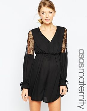 ASOS Maternity Playsuit With Lace Insert
