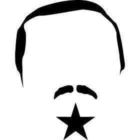 Erdogan mit Stern - Recep Tayyip Erdoğan mit Stern wie auf der Fahne der Türkei.