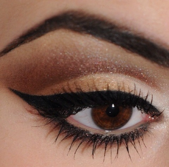 NPC Bikini Competition Stage Makeup! Brown smokey eye ...