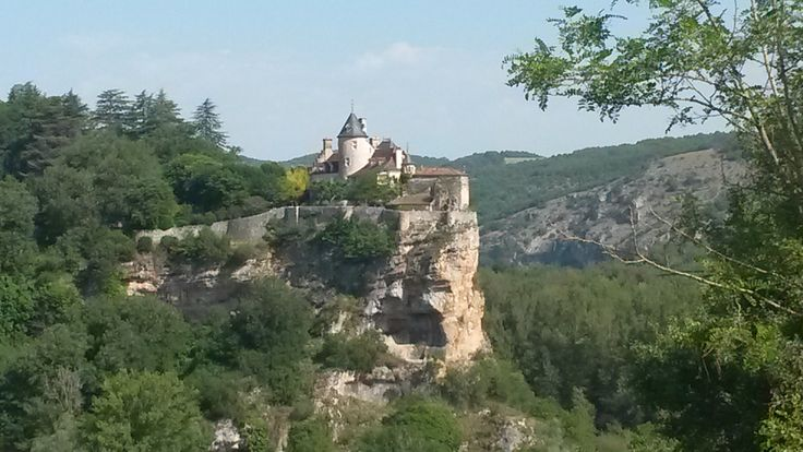 Typical perched village and chateau