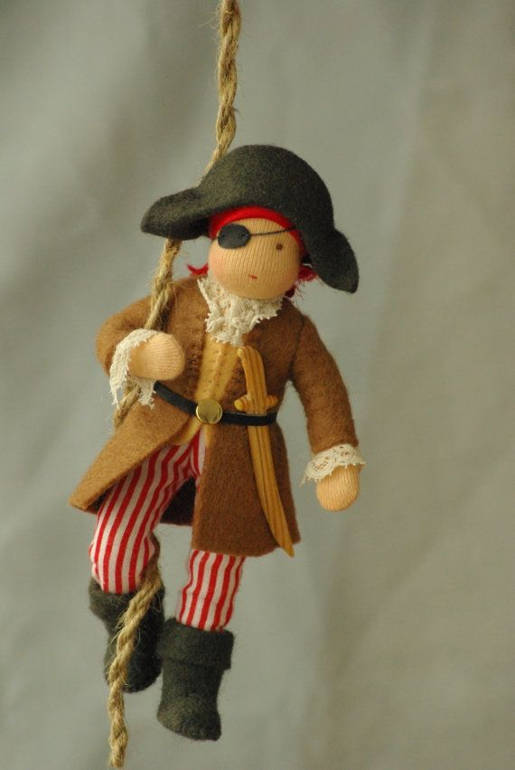Pirate Toys For Boys : Pirate waldorf doll good friend for boy original by