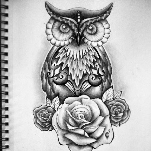 28 best drawn owl tattoos images on pinterest owl
