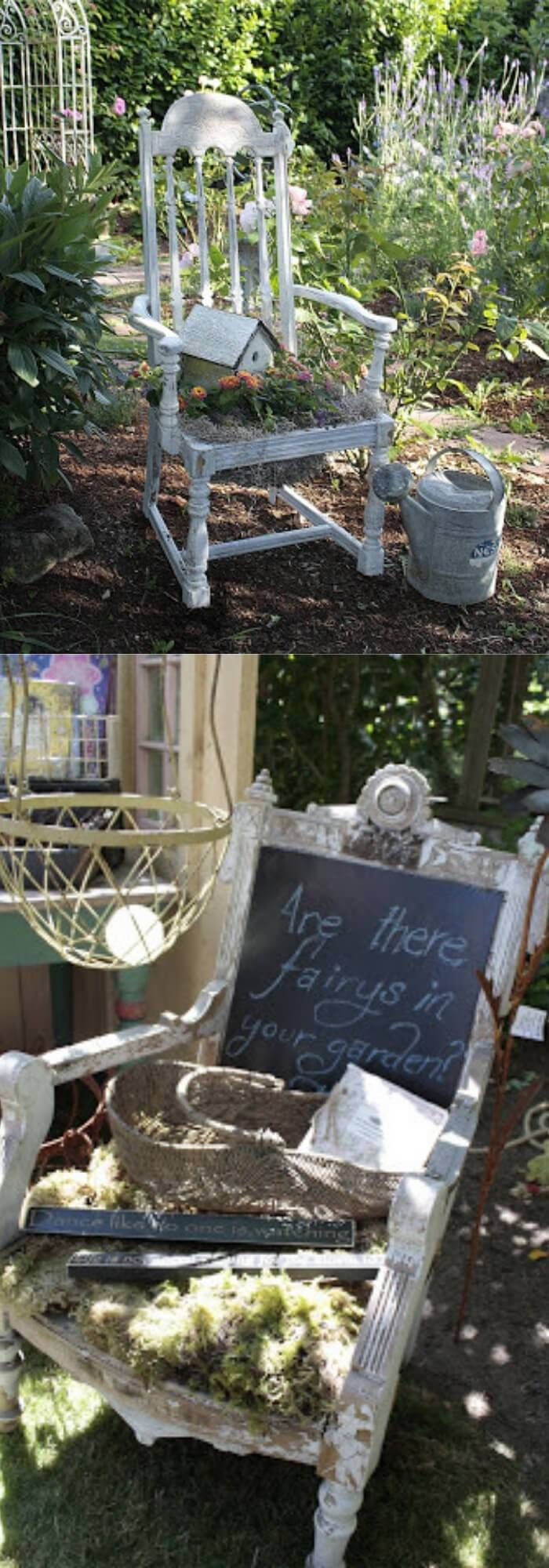 28+ Creative Upcycled DIY Chair Planter Ideas For Your ...