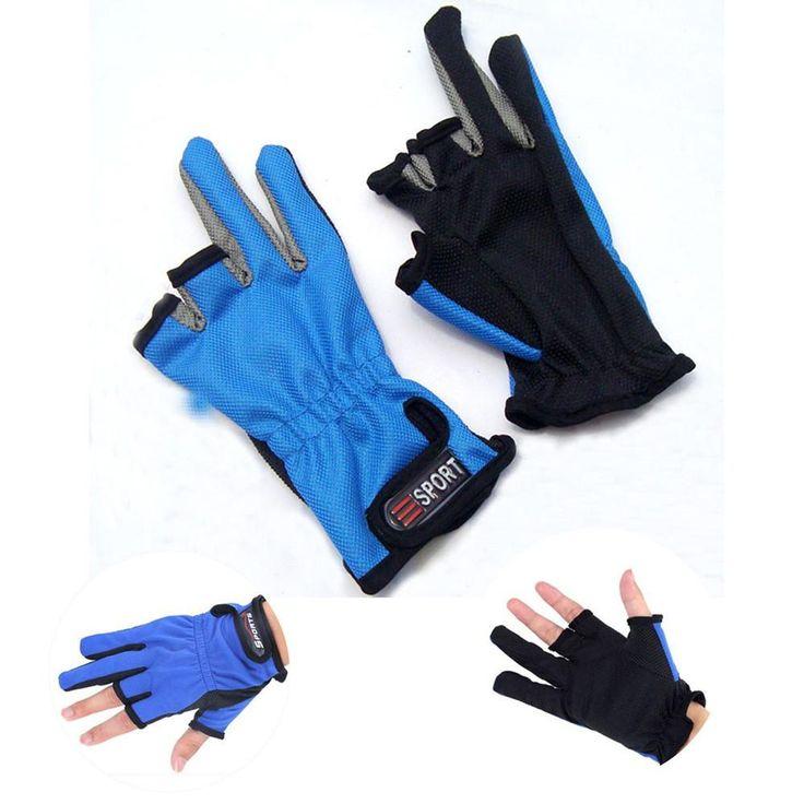 New Quality Three Cut finger fishing gloves Top Quality Anti Slip Fishing Gloves/Outdoor Sports Slip-resistant gloves #E0