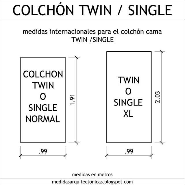 16 best images about antropometr a habitaciones y areas de for Colchon cama doble medidas