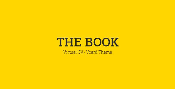 The Book : Personal vCard Template. Full view: https://themeforest.net/item/the-book-personal-vcard-template/16692133?ref=thanhdesign