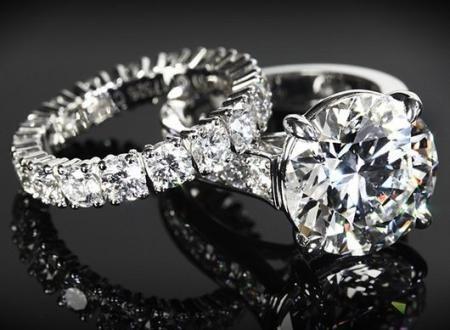 Помолвочные кольца с бриллиантами Тиффани