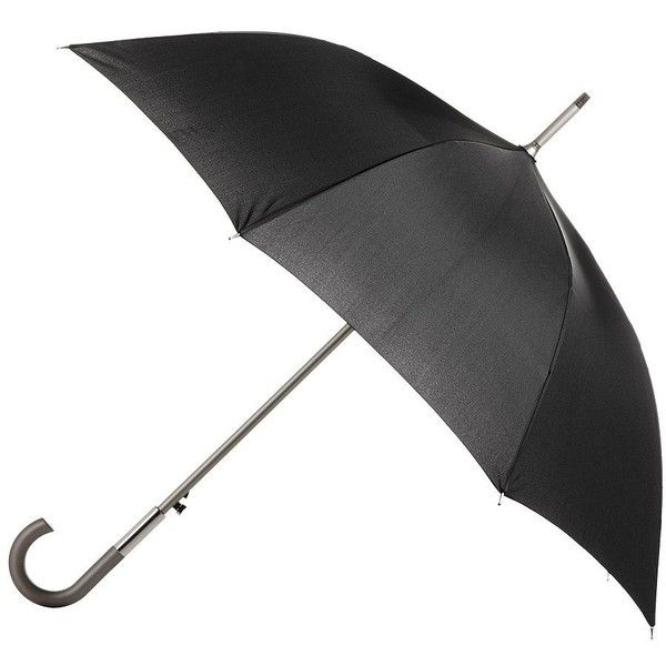 Totes Signature Auto Open Stick Umbrella ($26) ❤ liked on Polyvore featuring accessories, umbrellas, black white, totes umbrella, folding umbrella and black and white umbrella