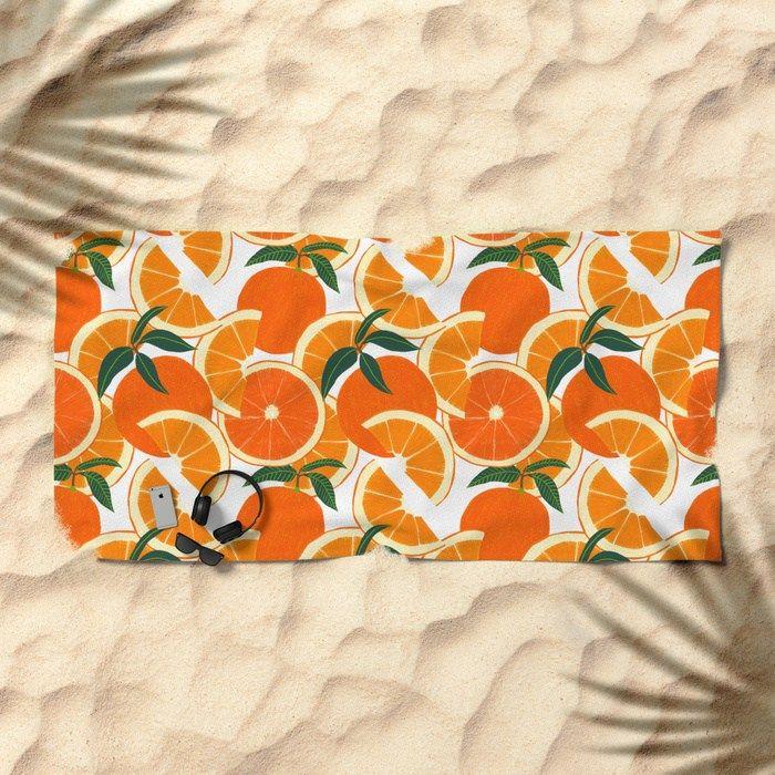 Orange Harvest Beach Towel Beach Towel Beach Towe