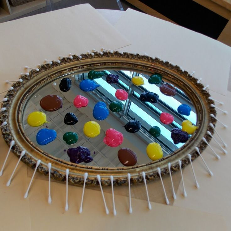 Painting with Q Tips-The Wonderful World of Kindergarten