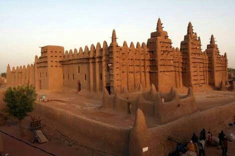 As ruínas de Kumbi-Saleh, a antiga capital do Império de Gana, onde hoje é a Mauritânia