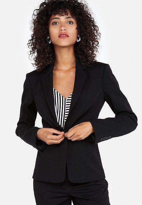 Petite black paint suit