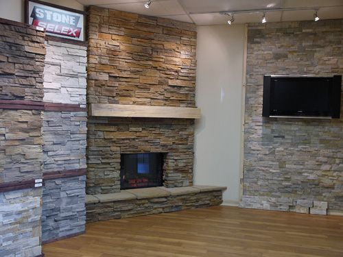 Stone Selex Showroom Bedroom Stone And Wall Fireplace