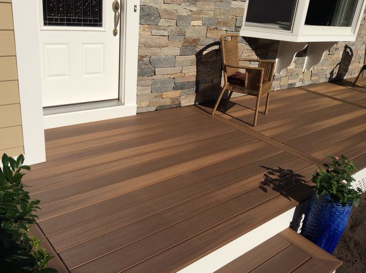 Duralife tropical walnut capped composite decking for Capped composite decking