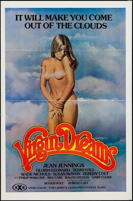 "Virgin Dreams (Gail Film, 1977). One Sheet (25"" X 39.75"") Flat Folded. Adult. Starring Jean Jennings, Gloria Leonard, Wade Nichols, and Terri Hall. Directed by Zebedy Colt."