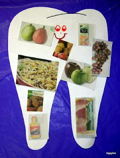 Healthy food activity-- This is a fun, creative way to teach about healthy foods vs. unhealthy foods. I could see this being an effective take-home activity to do with students.