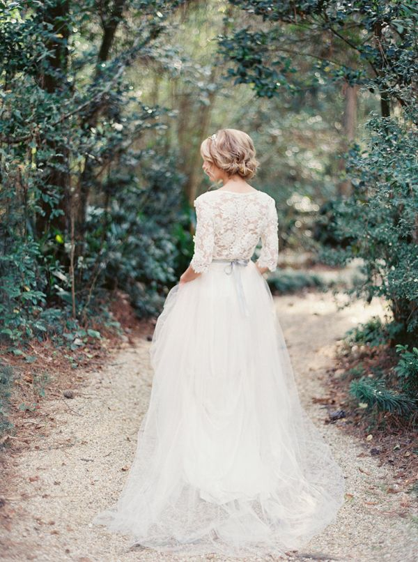 Romantic Lace Bridal Portrait Ideas via oncewed.com
