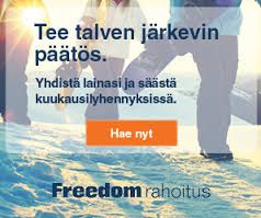 Rahaa,Hintaa,nappulaa,fyrkkaa 2016!: Freedomrahoitus 2016 Lainojen kilpailuttaja!