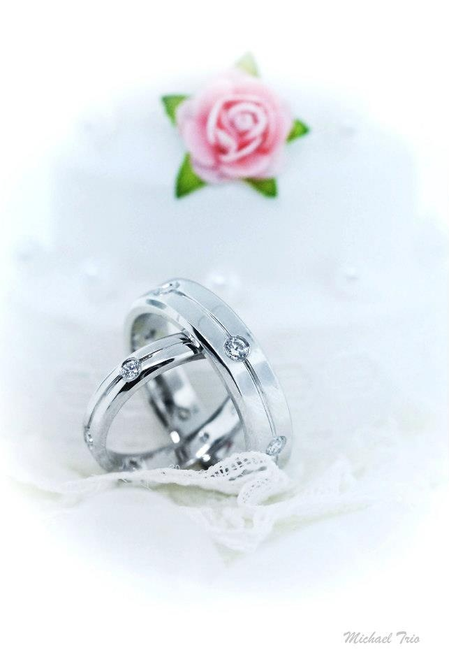18 best Michael Trio Wedding Rings images on Pinterest Anillo de