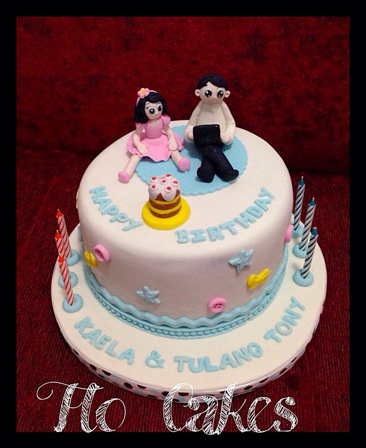 Uncle & niece bday cake