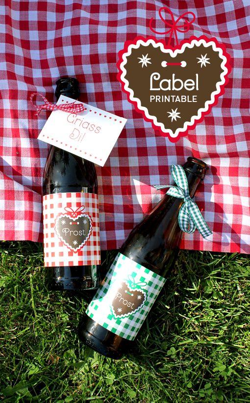 Printable, Beer-Label, Freebie, Bier-Etikett zum Download, Oktoberfest 2016, Wiesn