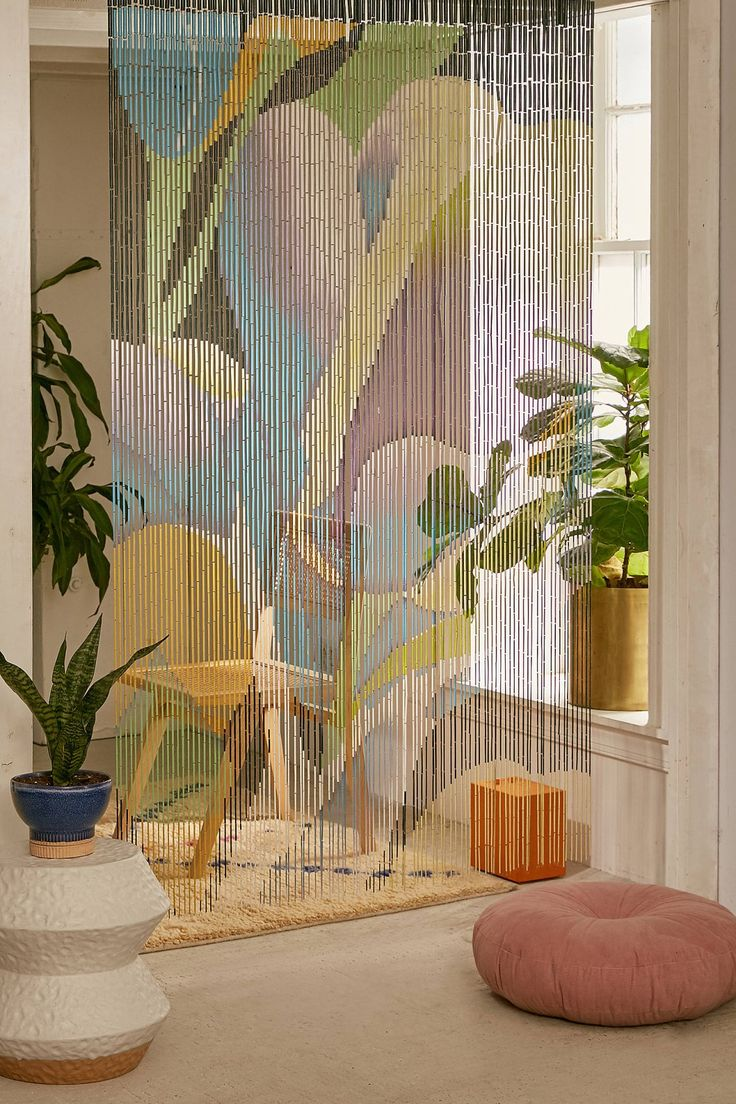 and pinterest boho new bead painted curtains decor pad clouds bamboo pin beaded