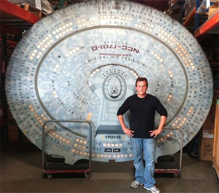Enterprise Saucer Section Prop from ST: Generations