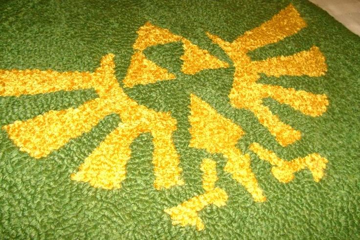Zelda triforce crest of hyrule rug via etsy Controller rug