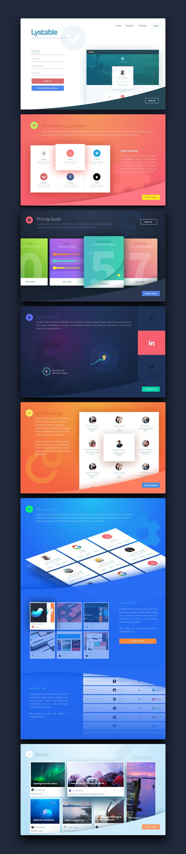 Lystable Landing Page. #WebDesign #UI #UserInterface