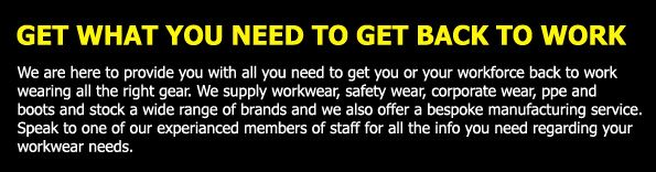 Workwear Wardrobe are the leading suppliers of workwear, cheap trousers, mens work trousers, hi vis clothing, safety boots, personalised clothing, anti static workwear, personalised workwear, safety wear, ppe, shoes, boots, trousers, tunics,  tools and equipment, etc.
