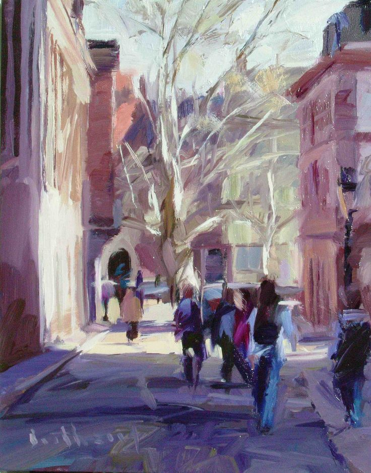 Street Scene Strasbourg, oil on canvas 47×56 cm by Bob Booth http://www.trinitypaintbox.com/blogs/reflections #painting #art