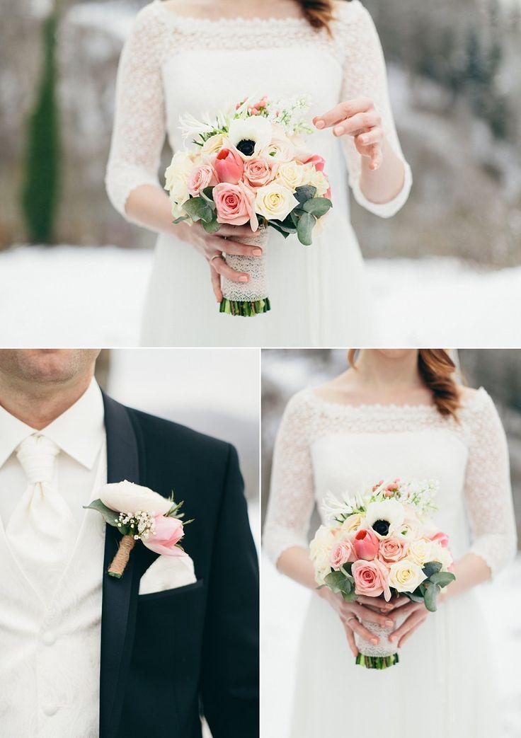 Hochzeit auf der Maisenburg, Winterhochzeit, Vintage, Schneehochzeit, Dekoration und Floristik: Anmut und Sinn, Foto: Daniela Reske Fotografie