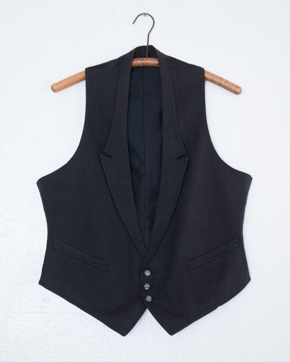 260.99 kr. antique wool waistcoat  L by BabyStrangeVintage on Etsy